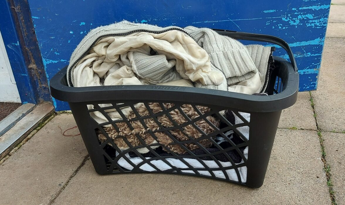 Laundry basket Eddie was found in